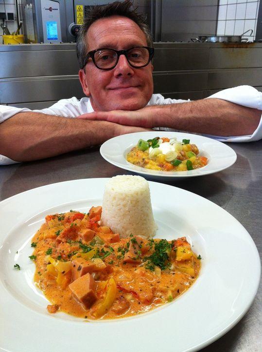 Dirk Hoffmann, rheinische Frohnatur und Chefkoch aus Hoffmanns guter Küche in Düsseldorf macht mal wieder die Kochprobe aufs Exempel: Gaumengraus... - Bildquelle: kabel eins