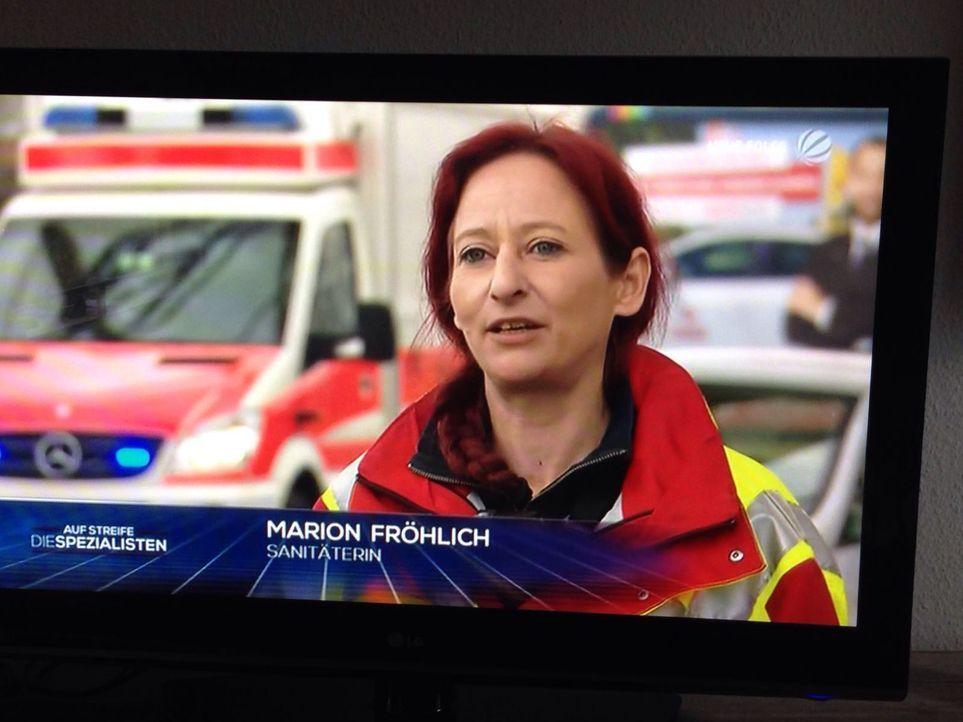 Sanitäter Marion Fröhlich