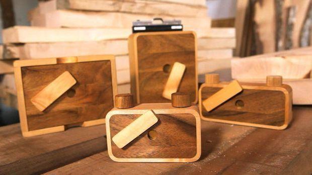 Lochkamera aus Holz
