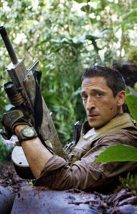 """Der frühere US-Army-Soldat Royce (Adrien Brody) muss erleben, dass die blutrünstigen """"Predators"""" ihn auf einen ihrer Planeten verschleppt haben, u... - Bildquelle: 2010 Twentieth Century Fox Film Corporation. All rights reserved."""