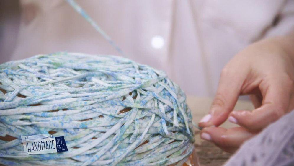 Kreative Schale  aus Wolle