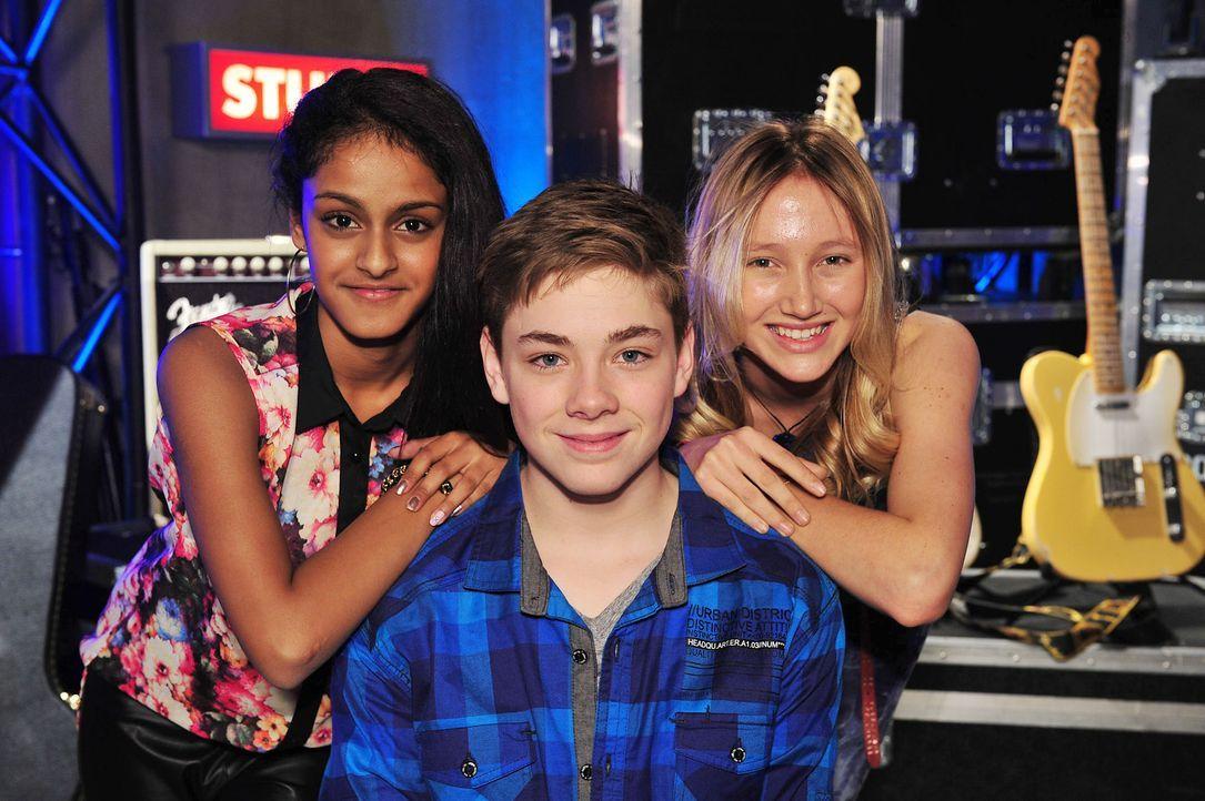 The-Voice-Kids-Stf02-Epi07-Sabeschni-Hannah-Samuel-3-SAT1-Andre-Kowalski - Bildquelle: SAT.1/Andre Kowalski