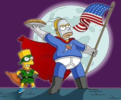 Die Simpsons - Homer (r.) hat der Ungerechtigkeit den Kampf angesagt: Als Sup...
