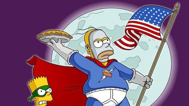 Homer (r.) hat der Ungerechtigkeit den Kampf angesagt: Als Superheld verkleid...