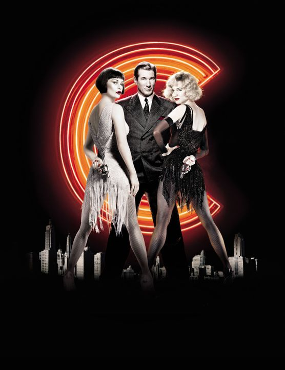 Chicago mit (v.l.n.r.) Catherine Zeta-Jones, Richard Gere und Renee Zellweger - Bildquelle: Miramax Films