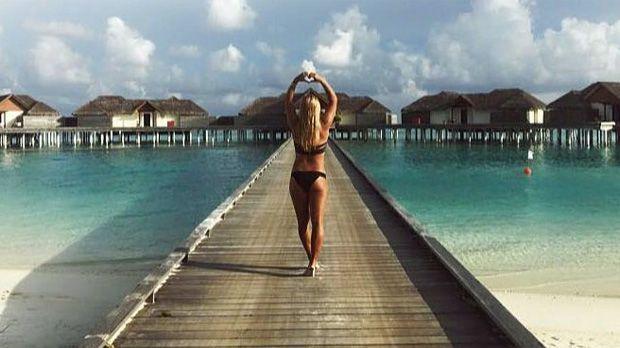 Dominika Cibulkova im Urlaub auf den Malediven - Bildquelle: twitter@cibulkova
