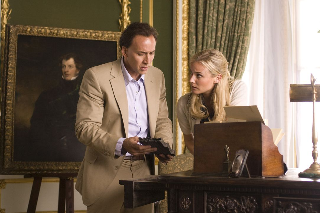 Der Archäologe und Schatzsucher Benjamin Franklin Gates (Nicolas Cage, l.) kämpft gemeinsam mit Abigail Chase (Diane Kruger, r.) um die Ehre seine... - Bildquelle: Disney Enterprises, Inc.  All rights reserved.