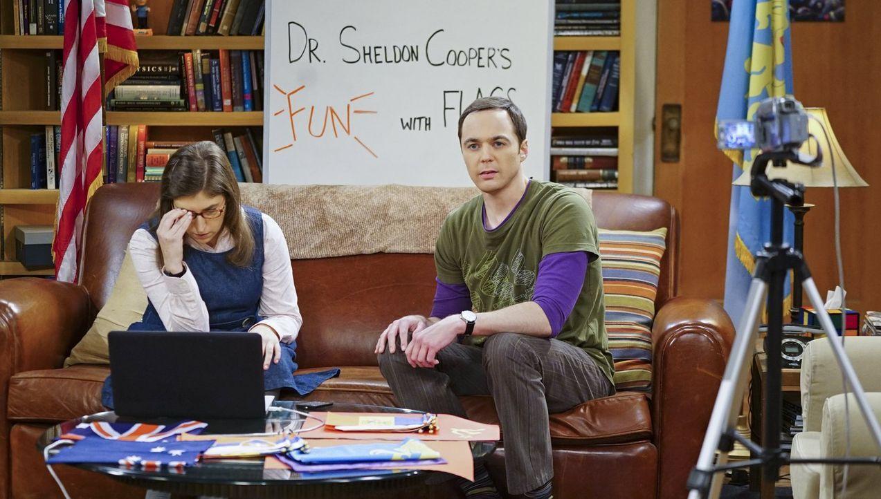 Für Amy (Mayim Bialik, l.) und Sheldon (Jim Parsons, r.) gibt es keine schöneren Pläne für den Valentinstag, als diesen romantischen Tag mit einer L... - Bildquelle: 2015 Warner Brothers