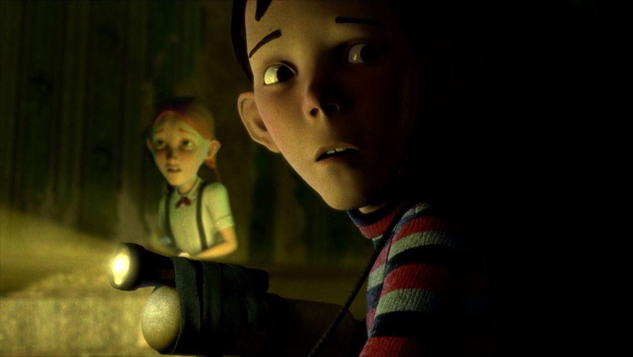 Haben D.J. (r.) und Jenny (l.) eine Chance, das Monsterhaus zu stoppen? - Bildquelle: Sony Pictures Television International. All Rights Reserved.