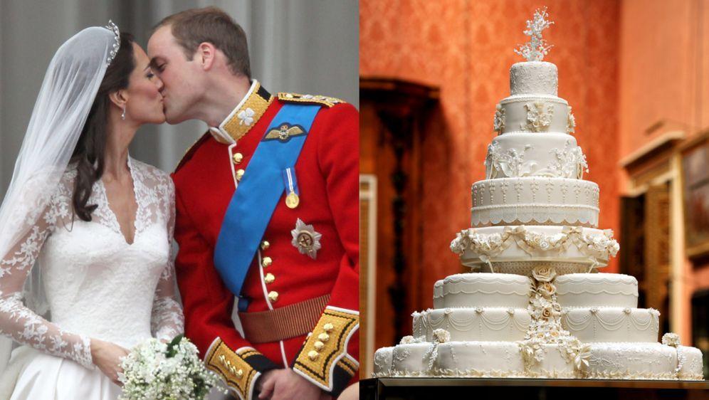 Kate Middleton Und Prinz William Hochzeitstorte Wird Versteigert