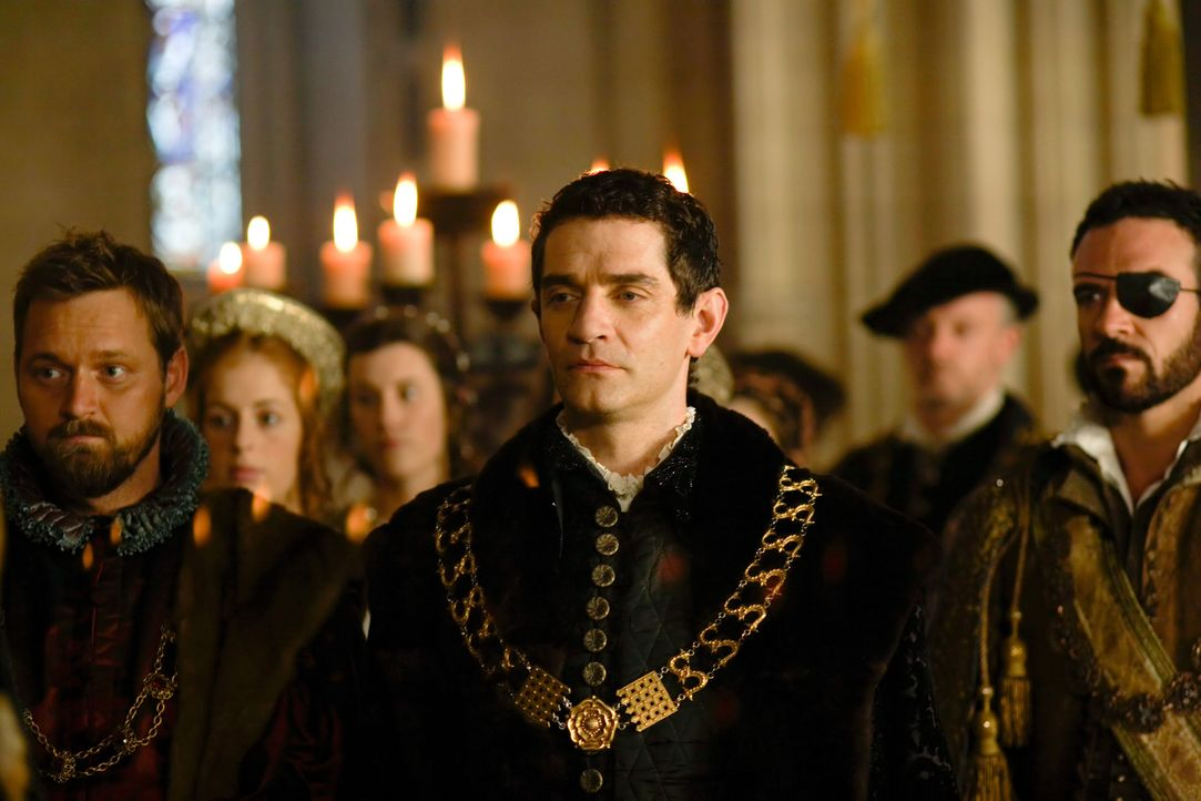 Die bösen Gerüchte um den einflussreichen Lordsiegelbewahrer Thomas Cromwell (James Frain, M.) werden immer lauter. Es heißt, dass sich der zweitmäc... - Bildquelle: 2009 TM Productions Limited/PA Tudors Inc. An Ireland-Canada Co-Production. All Rights Reserved.