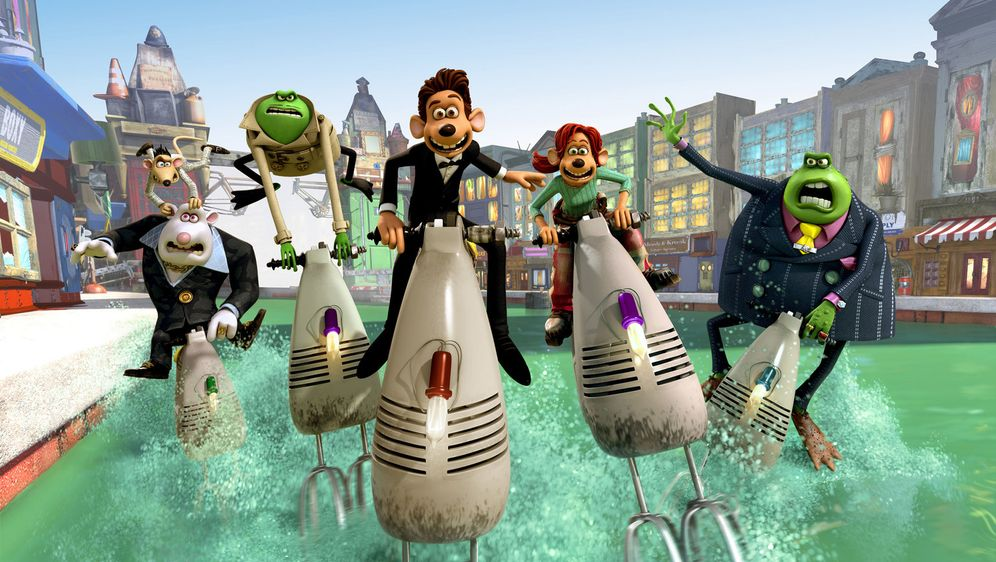 Flutsch und weg - Bildquelle: DREAMWORKS ANIMATION LLC AND AARDMAN ANIMATIONS LTD. FLUSHED AWAY TM DREAMWORKS ANIMATION LLC. ALL RIGHTS RESERVED.