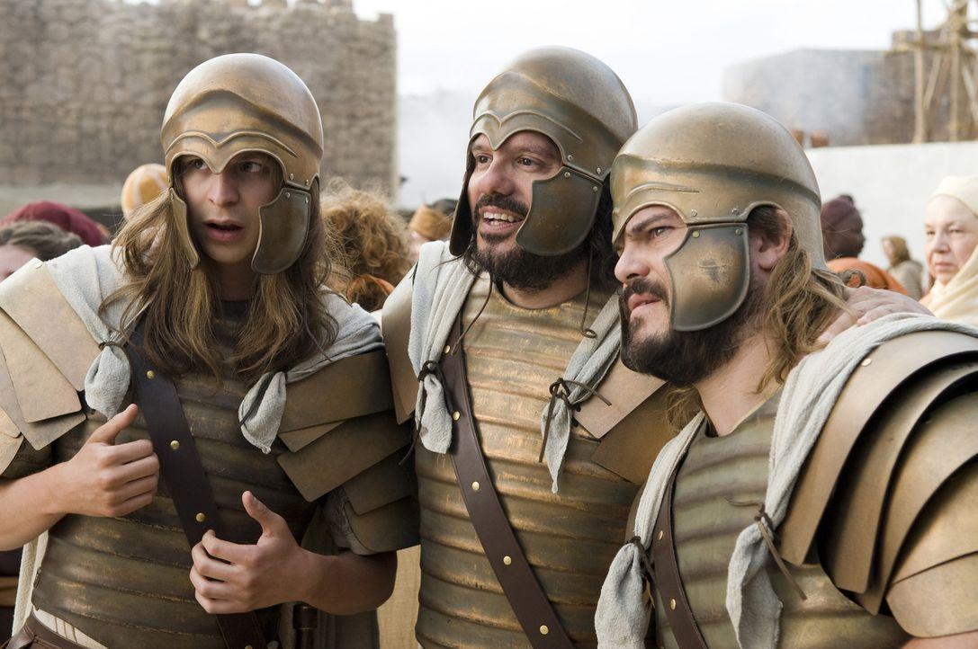 Gemeinsam fühlen sie sich stark: Zed (Jack Black, r.), Oh (Michael Cera, l.) und Kain (David Cross, M.) ... - Bildquelle: 2009 Columbia Pictures Industries, Inc. All Rights Reserved.