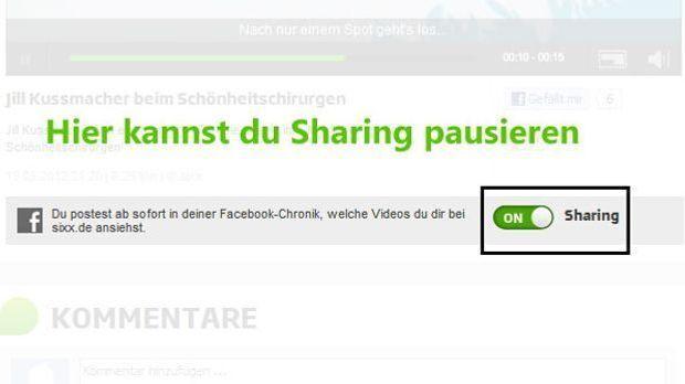 Facebook-Sharing-pausieren