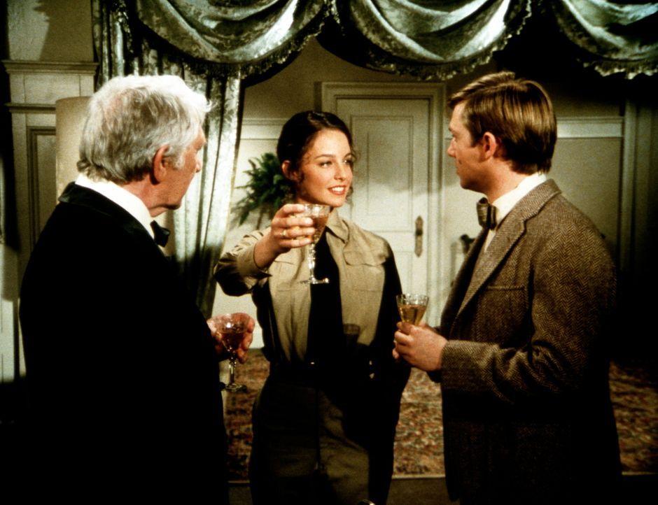 Selina Linville (Kathleen Quinlan, M.) berichtet dem Colonel (Eduard Franz, l.) und John-Boy (Richard Thomas, r.) stolz von ihren Plänen ... - Bildquelle: WARNER BROS. INTERNATIONAL TELEVISION