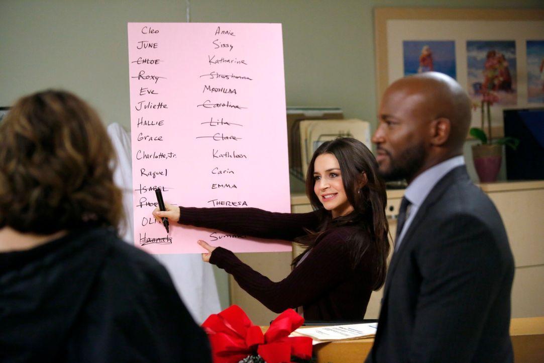 Wollen Cooper und Charlotte bei der Namensfindung behilflich sein: Violet (Amy Brenneman, l.), Amelia (Caterina Scorsone, M.) und Sam (Taye Diggs, r... - Bildquelle: ABC Studios