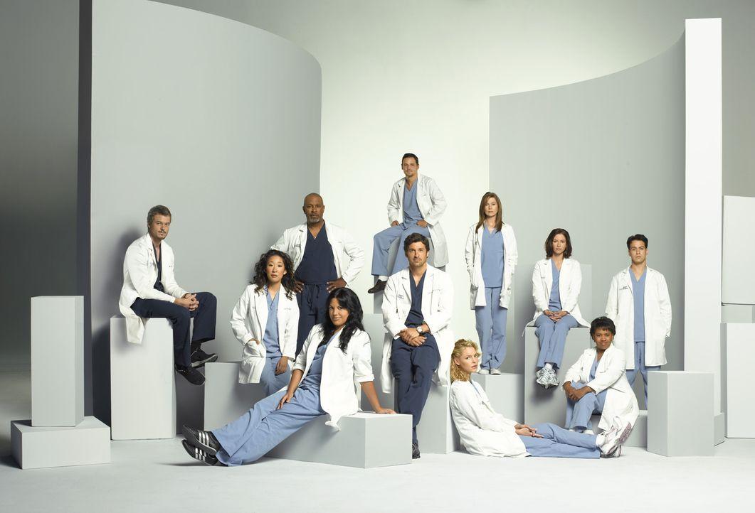 (4. Staffel) - Machen sie sich daran, den unberechenbaren Krankenhausalltag zu meistern: (v.l.n.r.) Dr. Mark Sloan (Eric Dane), Dr. Cristina Yang (S... - Bildquelle: Touchstone Television