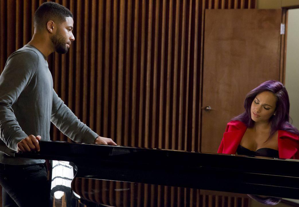 Jamal (Jussie Smollett, l.) und Popstar Skye Summers (Alicia Keys, r.) beginnen eine Zusammenarbeit bei Empire und entwickeln eine tiefe Verbindung... - Bildquelle: Chuck Hodes 2015-2016 Fox and its related entities.  All rights reserved.