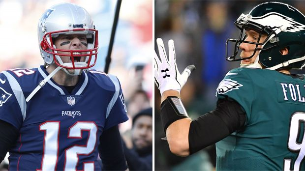 Tom Brady vs. Nick Foles - Bildquelle: Imago