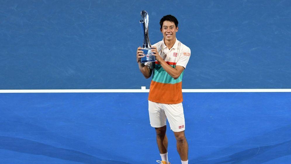 Kei Nishikori sichert sich den Turniersieg in Brisbane - Bildquelle: AFP SIDSAEED KHAN