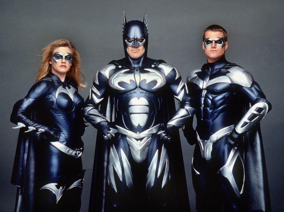 Batman-Robin-Alicia-Silverstone-George-Clooney-Chris-O-Donnell-dpa - Bildquelle: dpa