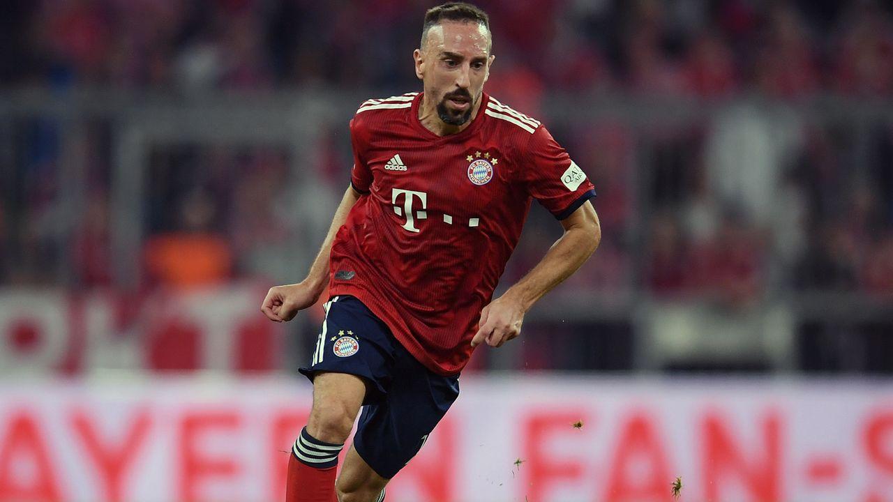 Franck Ribéry (Linksaußen) - Bildquelle: Getty Images