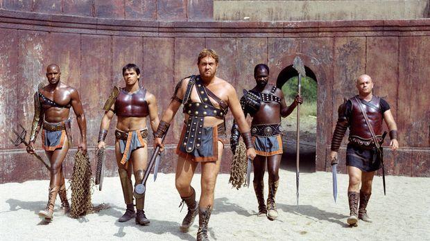 Gladiator ist in Capua ein harter Ausbildungsberuf. In den Räumen der Schule...