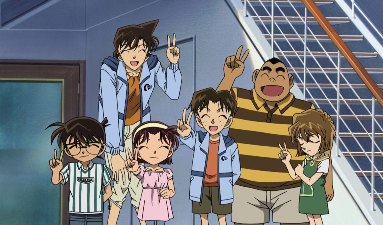 Conan (l.) und seine Freunde sind bei der Jungfernfahrt eines neuen Luxusdampfers dabei, als schon beim Stapellauf einer der Konstrukteure durch ein... - Bildquelle: 2005 GOSHO AOYAMA / SHOGAKUKAN-YTV-NTV-ShoPro-TOHO-TMS All Rights Reserved