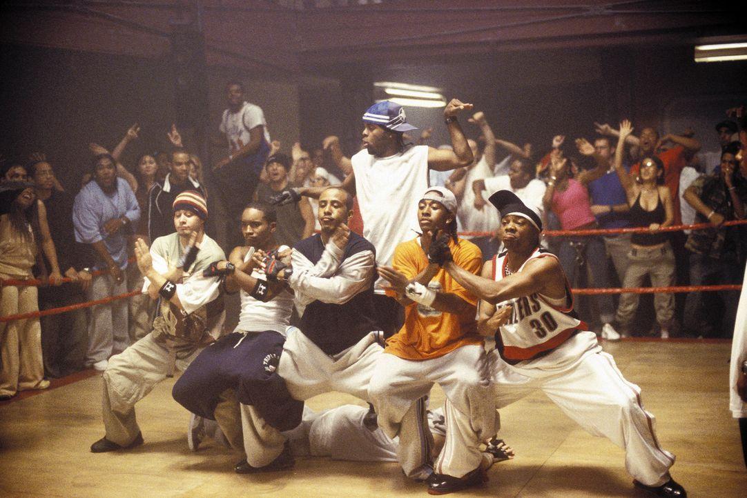 Wollen einen von MTV gesponserten Tanzwettbewerb samt der 50.000 Dollar Siegesprämie gewinnen: Rico (J-Boog, 2.v.l.), Elgin (Marques Houston, 3.v.l.... - Bildquelle: 2004 Screen Gems, Inc. All Rights Reserved.