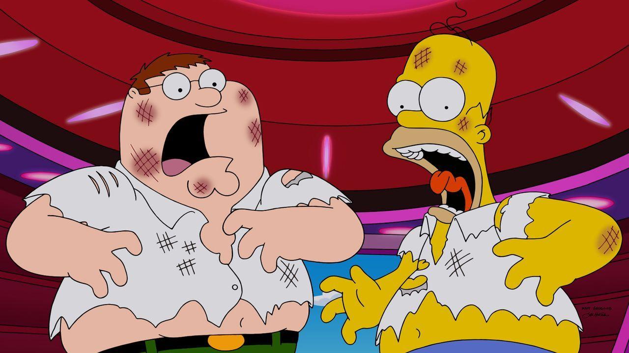 Was ist mit Homer (r.) und Peter (l.) nur geschehen? - Bildquelle: 2015-2016 Fox and its related entities. All rights reserved.