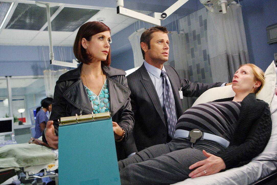 Addison (Kate Walsh, l.) fühlt sich von ihrem älteren Bruder Archer (Grant Show, M.) bevormundet und  möchte, dass er die Stadt wieder verlässt. Ihr... - Bildquelle: ABC Studios