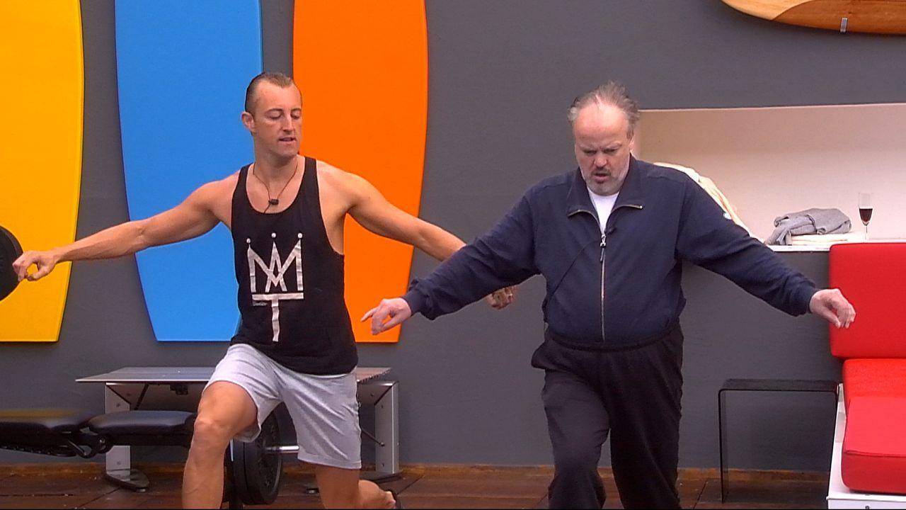 Huberts erstes Training