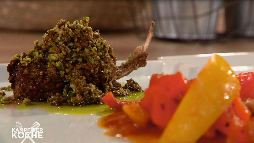 Lamm-Koteletts mit Paprikagemüse
