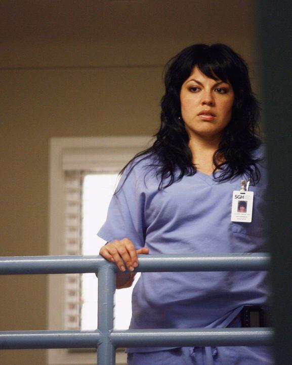 Callie (Sara Ramirez) wird immer misstrauischer, was George und Izzie angeht ... - Bildquelle: Touchstone Television