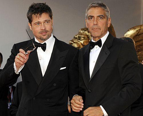 Bildergalerie Brad Pitt & George Clooney | Frühstücksfernsehen | Ratgeber & Magazine - Bildquelle: AFP