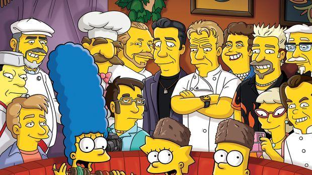 Um in der Gunst ihrer Kinder zu steigen, organisiert Marge (vorne l.) ein Spa...
