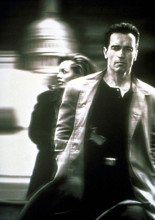 Schon bald geraten John (Arnold Schwarzenegger, r.) und Lee (Vanessa Williams, l.) in ein tödliches, intrigantes Netz ... - Bildquelle: Warner Brothers International Television Distribution Inc.