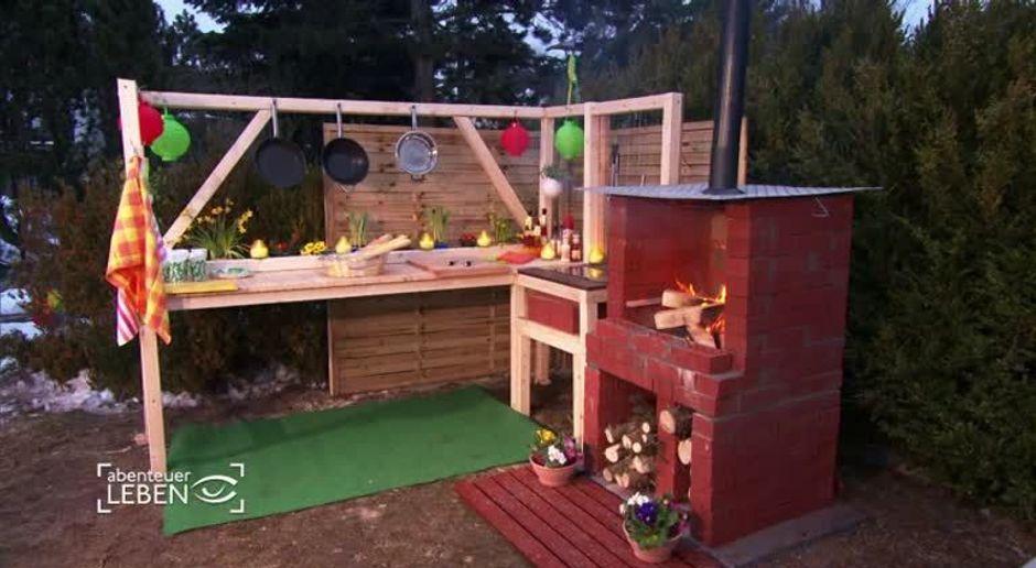 Outdoor Küche Aus Paletten Selber Bauen : Abenteuer leben video outdoor grill selbstgemacht kabeleins