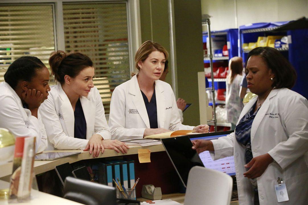 Kämpfen täglich um das Leben ihrer Patienten: Amelia (Caterina Scorsone, 2.v.l.), Stephanie (Jerrika Hinton, l.), Meredith (Ellen Pompeo, 2.v.r.) un... - Bildquelle: Mitchell Haaseth ABC Studios