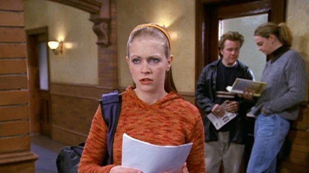 Sabrina (Melissa Joan Hart) kann es nicht fassen: Professor Carlin hat ihre A...