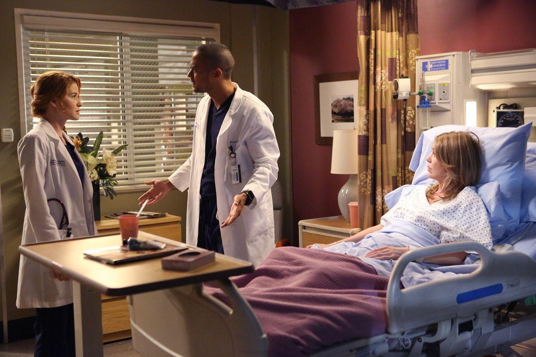 Während eines lautstarken Streits kann Jackson (Jesse Williams, M.) April (Sarah Drew, l.) schließlich klar machen, dass er keine Gefühle mehr f - Bildquelle: ABC Studios