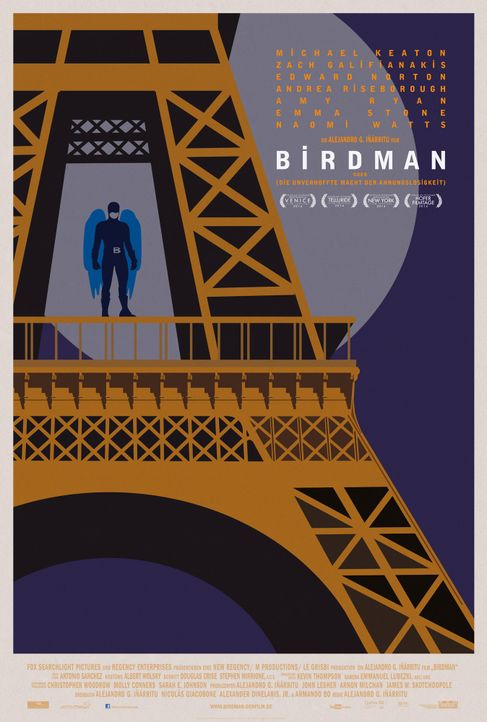 Birdman-Plakat-Paris-20th-Century-Fox - Bildquelle: TWENTIETH CENTURY FOX