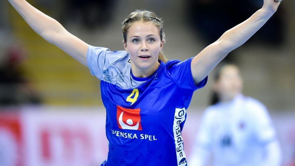 Im Achtelfinale: Olivia Mellegard und ihre Schwedinnen - Bildquelle: PIXATHLONPIXATHLONSIDNewpix