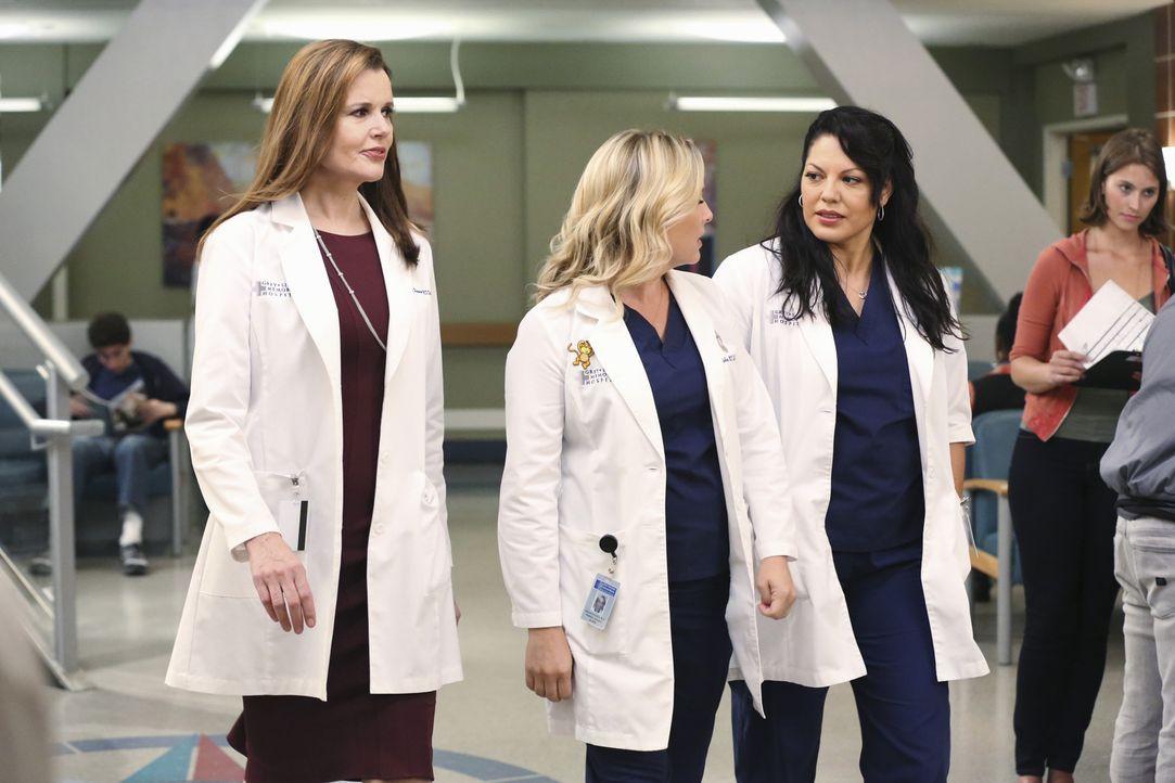 Arizona (Jessica Capshaw, M.) und Callie (Sara Ramirez, r.) stecken mitten in der Babyplanung. Wird Arizona das Angebot für das Forschungsstipendium... - Bildquelle: ABC Studios