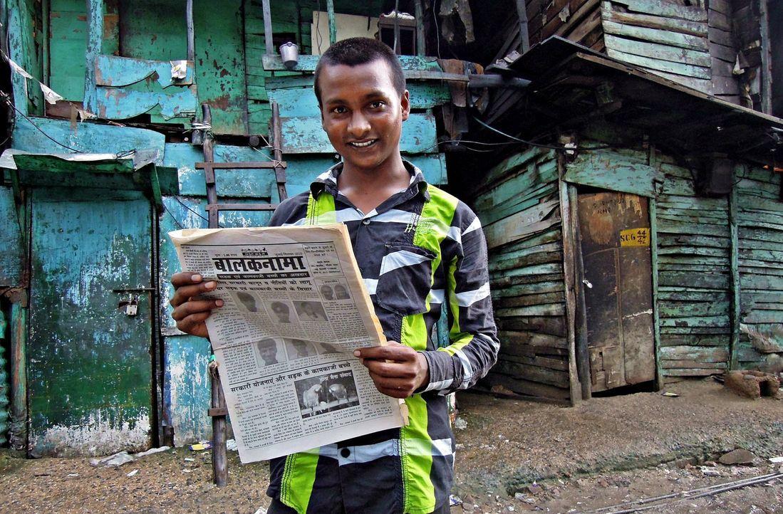 Der 18-jährige Vijay Kumar veröffentlicht mit seinem Team, bestehend aus Straßenkindern, die einzige Zeitung, die sich mit den Problemen der Straßen... - Bildquelle: Quicksilver Media 2012