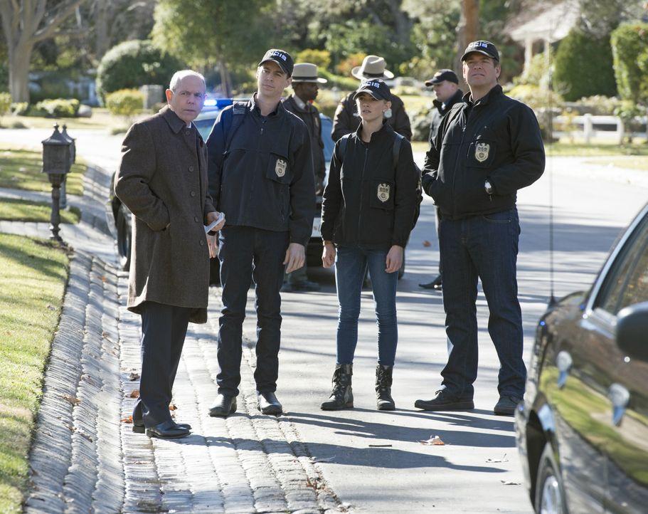 Als die Tochter der hochrangigen Navy-Offiziellen Sarah Porter entführt wird, versuchen Senior FBI Agent T.C. Fornell (Joe Spano, l.), McGee (Sean M... - Bildquelle: Neil Jacobs 2016 CBS Broadcasting, Inc. All Rights Reserved