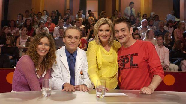 Schauspielerin Christina Plate (l.) und Comedian Ingo Oschmann (r.) bei Barba...