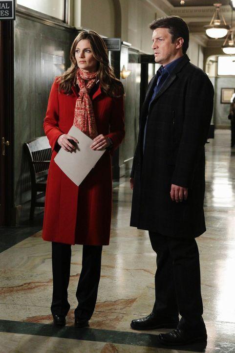 Wird es ihnen gelingen, den Fall zu lösen? Richard Castle (Nathan Fillion, r.) und Kate Beckett (Stana Katic, l.) geben nicht auf ... - Bildquelle: ABC Studios