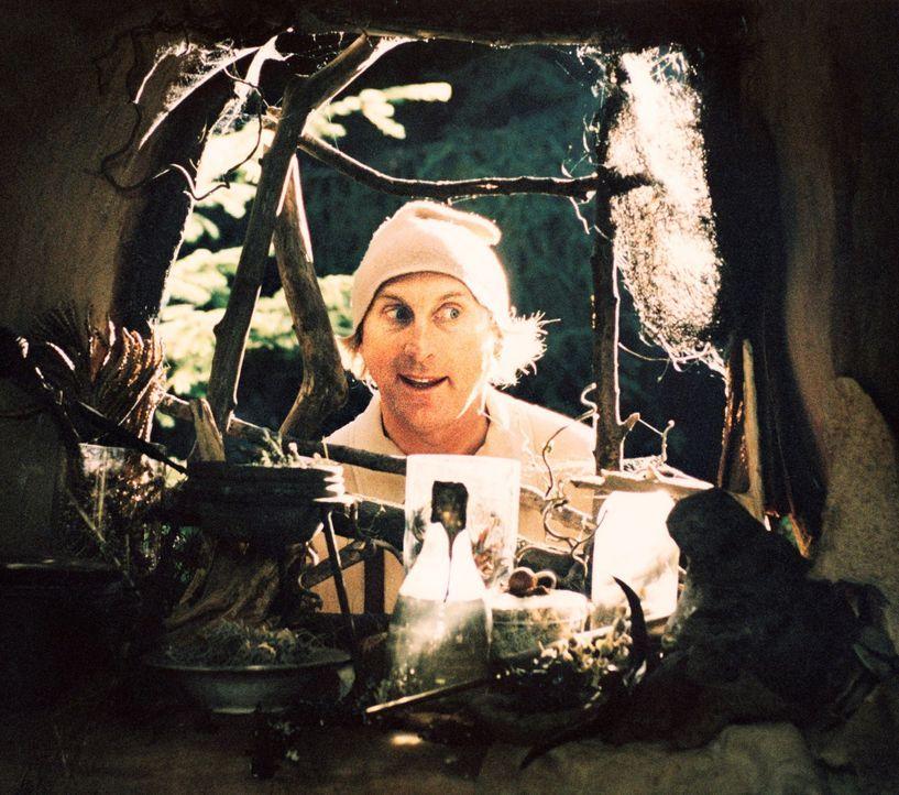 Bubi (Otto Waalkes) macht sich, nachdem Schneewittchen bei ihm vorbeischaut, auf die Suche nach den anderen Zwergen. Während diese in die Welt hinau... - Bildquelle: 2006 Zipfelmützen Film, Film & Entertainment VIP Medienfonds 2, Universal Pictures Productions, MMC Independent, Rialto Film
