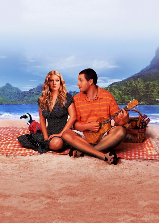Tierarzt Henry Roth (Adam Sandler, r.) lebt auf Hawaii und ist ein Playboy aus Leidenschaft. Unverbindliche Flirts mit hübschen Touristinnen gehören... - Bildquelle: Sony Pictures Television International. All Rights Reserved.